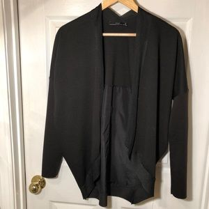 Zara Black Bomber Cardigan